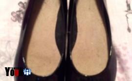 Clarks patent black shoes
